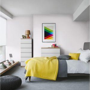 couleurs pantone 2021 chambre blanc jaune gris