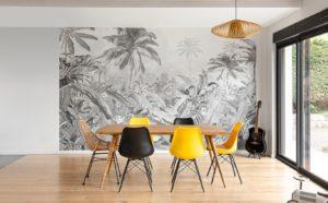 couleur pantone 2021 salle à manger jaune gris noir